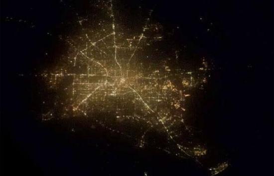 Города ночью вид из космоса