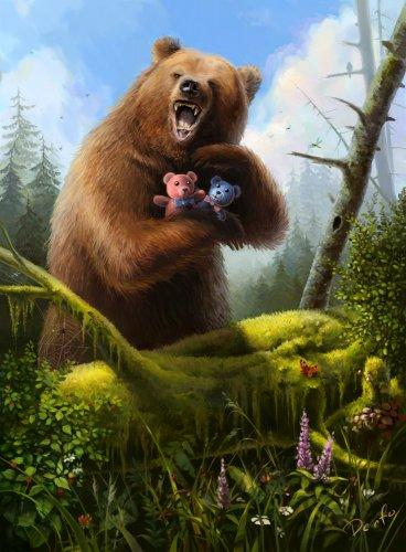 сказка про медведя слушать