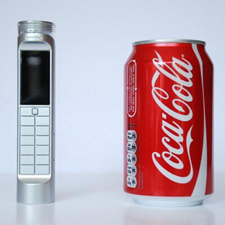 Мобильный телефон работающий на кока-коле!