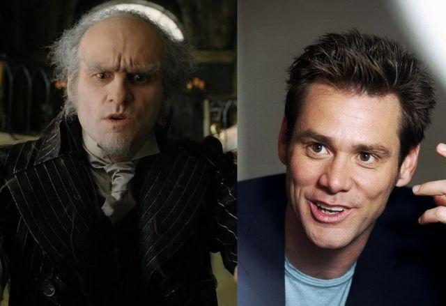 Jim Carrey - Hrabě Olaf v Lemony Snicket: Řada nešťastných příhod
