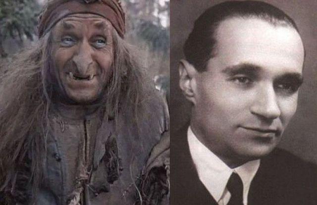 Georgi Millyar - Baba Yaga v sovětské pohádce Mrazík