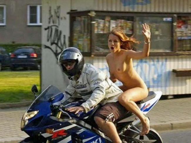 Голая девушка на мотоцикле (7 фото) - красивые бесплатные картинки, фото пр