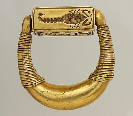 Кольца и печатки древнеегипетских  фараонов