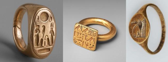 """Кольца и печатки древнеегипетских """"королей"""" фараонов."""